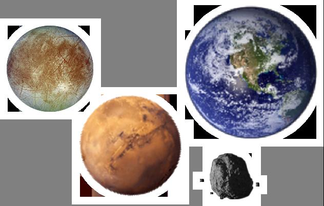 太陽系の水惑星たち
